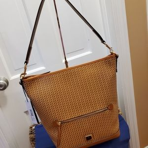 Dooney and Bourke Camden Woven Camel Large…